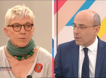 Extension de l'aéroport de Nice: Caroline Roose sur le plateau de Dimanche en Politique sur France 3