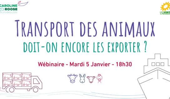 Webinaire – «Transport des animaux: doit-on encore les exporter?»