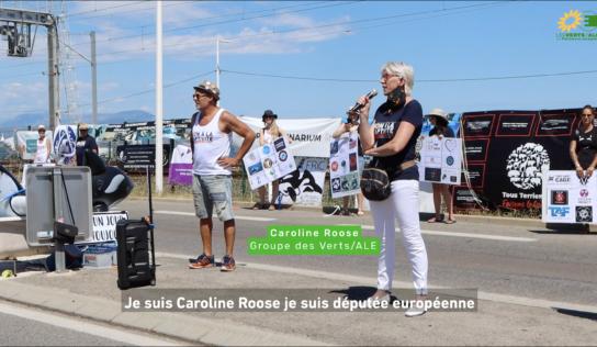 Devant le Marineland d'Antibes pour dire STOP à la captivité des cétacés